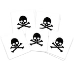 Black Skull & Crossbones (5-Pack)