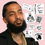 Nipsey Hussle Temporary Tattoos