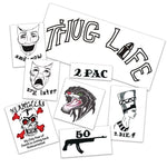 2Pac - Tupac Shakur Temporary Tattoos