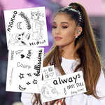 Ariana Grande Temporary Tattoos