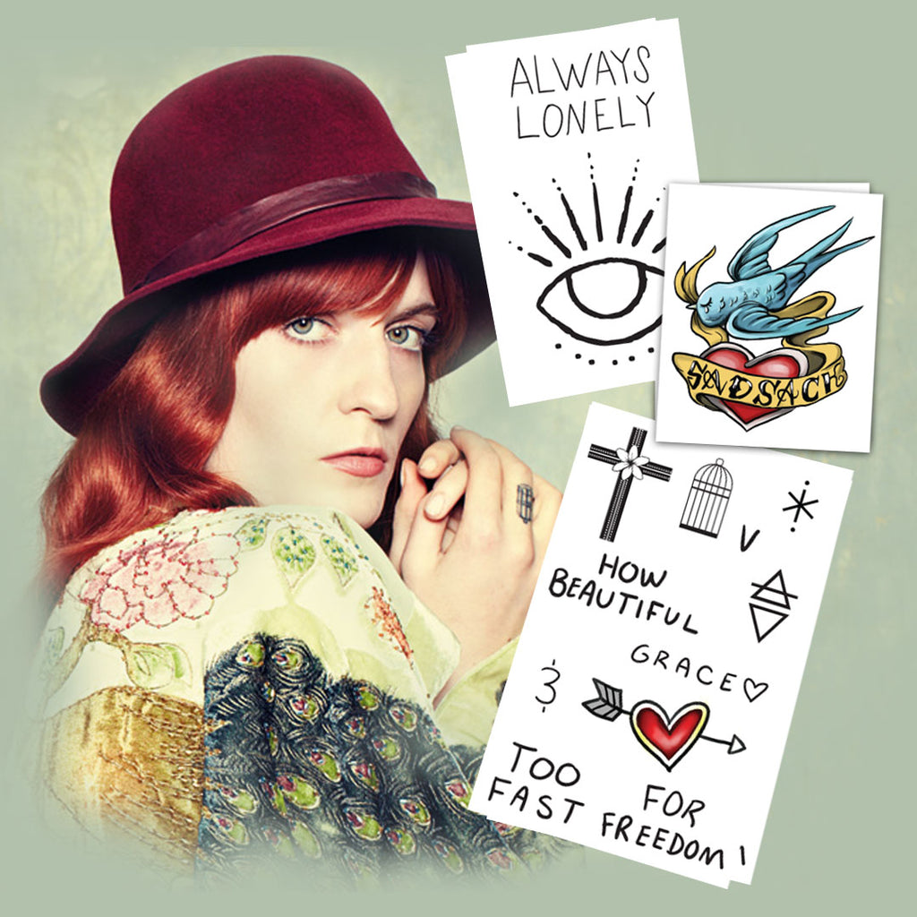 Florence Welch Temporary Tattoos