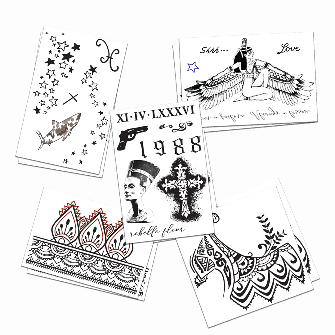 Rihanna Temporary Tattoos Set of Two