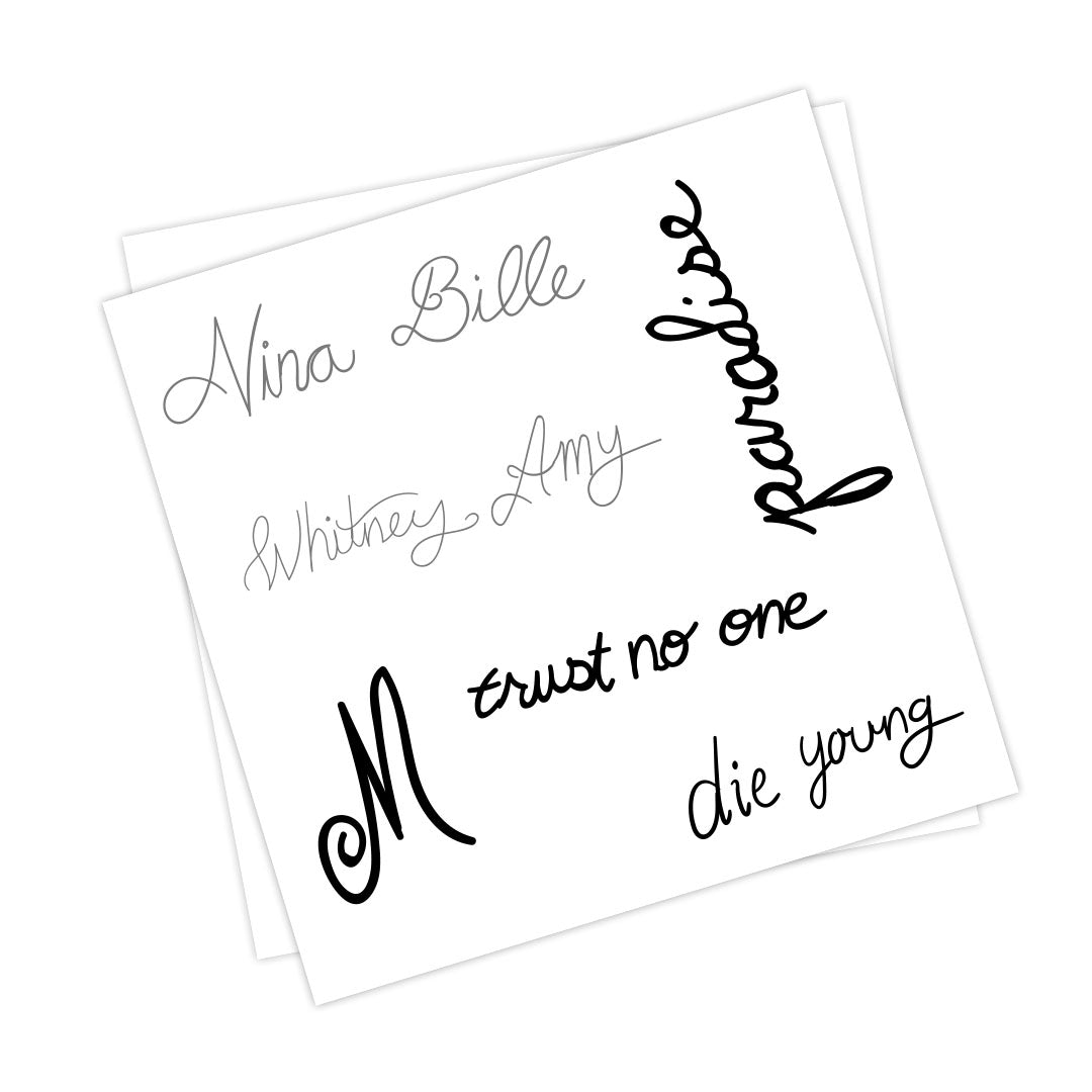 Lana Del Rey Temporary Tattoos Set of Two
