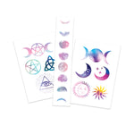 Witchy Celestial Pack Temporary Tattoos