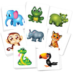 Kids Jungle Animals Temporary Tattoos