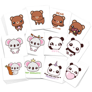 Cute Panda Koala Bear Temporary Tattoos
