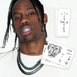 Travis Scott Temporary Tattoos