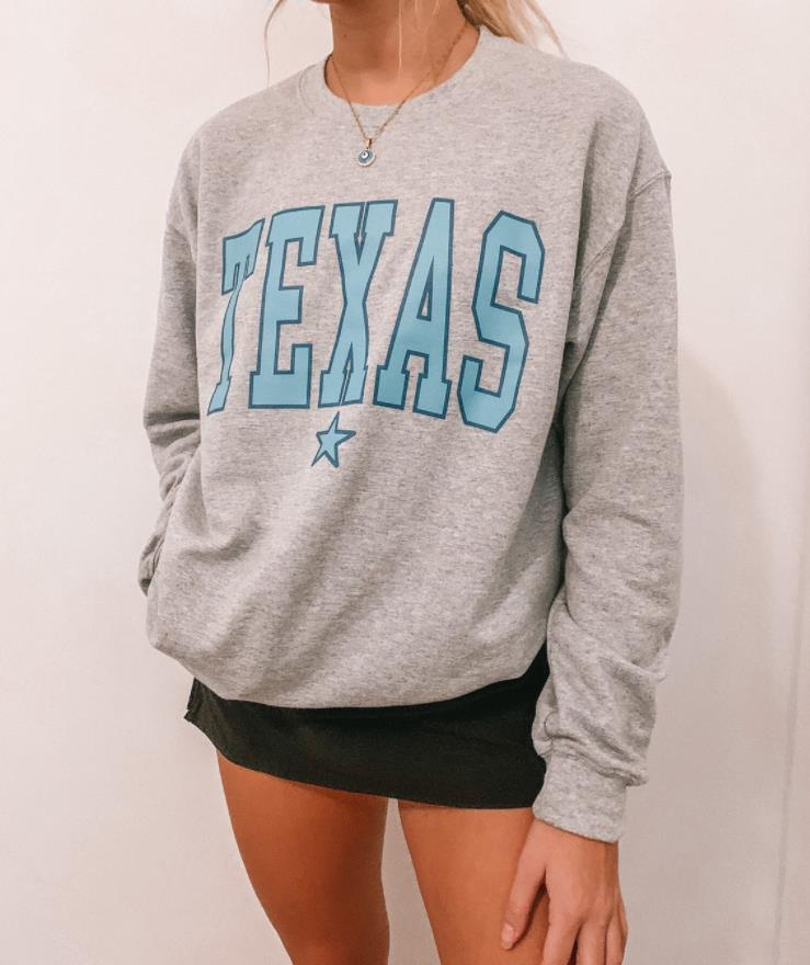 Texas Sweatshirt Outfit Casual