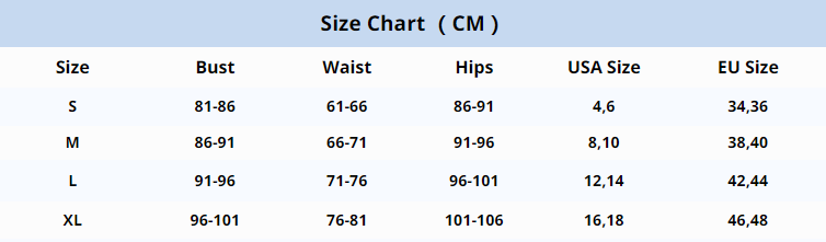 size chart by August Lemonade