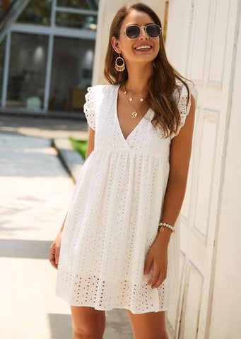 white-mini-sundress-v-neck-summer-outfit-august-lemonade