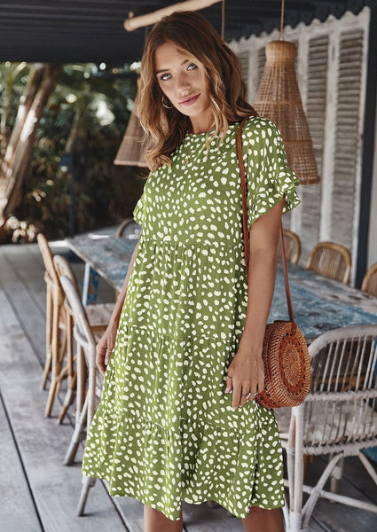 Light Up My Life Dress GREEN