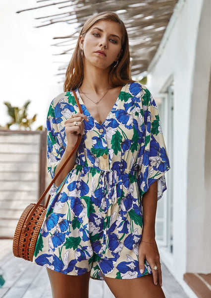 Cool For The Summer Floral Rompers