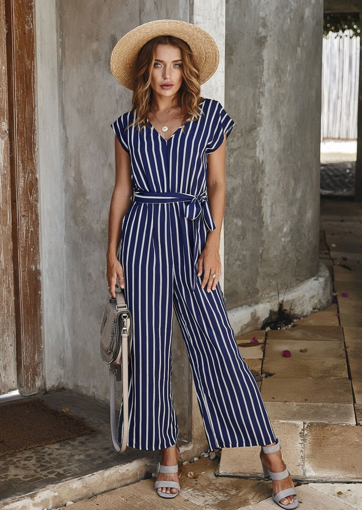 Smile Like You Mean It Jumpsuit NAVY