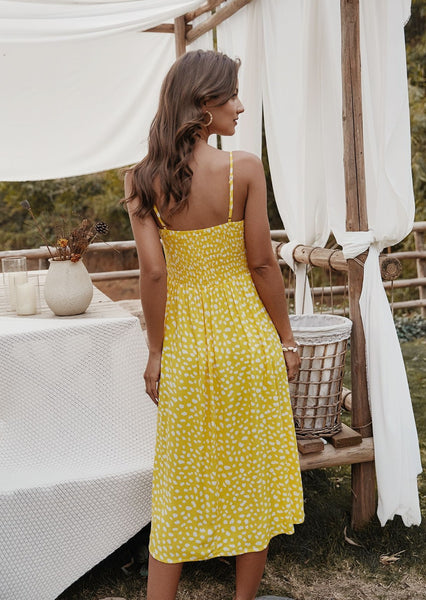 women-midi-dress-causual-floral-summer-outfits