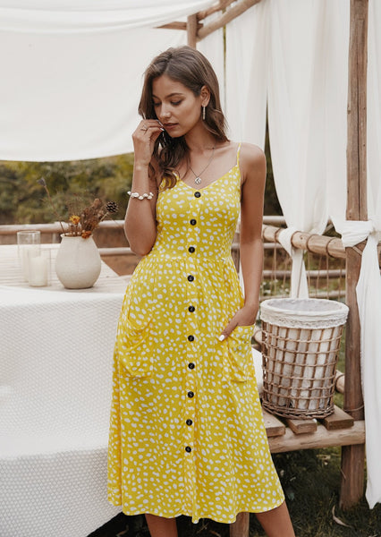 women-midi-dress-causual-floral-summer