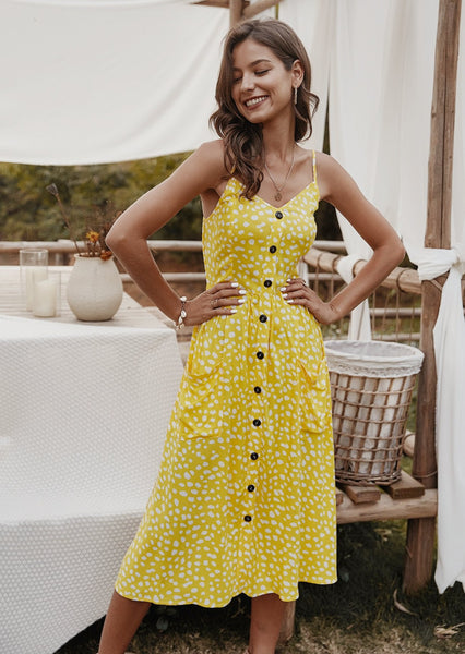 women-midi-dress-causual-floral-summeroutfits