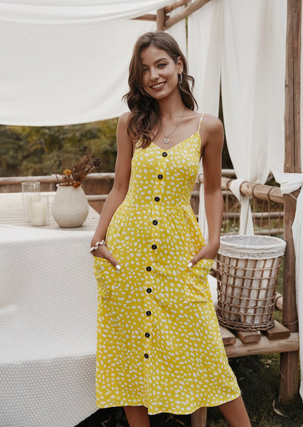 women-midi-dress-causual-floral-dresses-summeroutfits