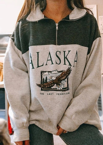 Vintage Oversized Sweatshirt Grey
