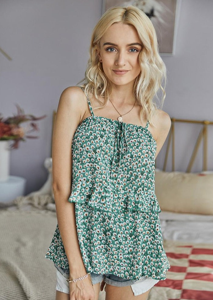Girl In The City Ditsy Floral Top August Lemonade