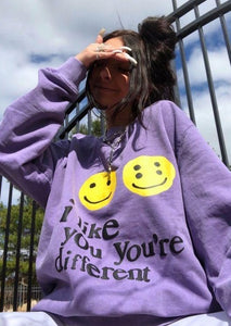 Cool Smiley Print Sweatshirt