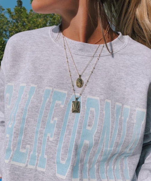 Florida printed sweatshirt august lemonade