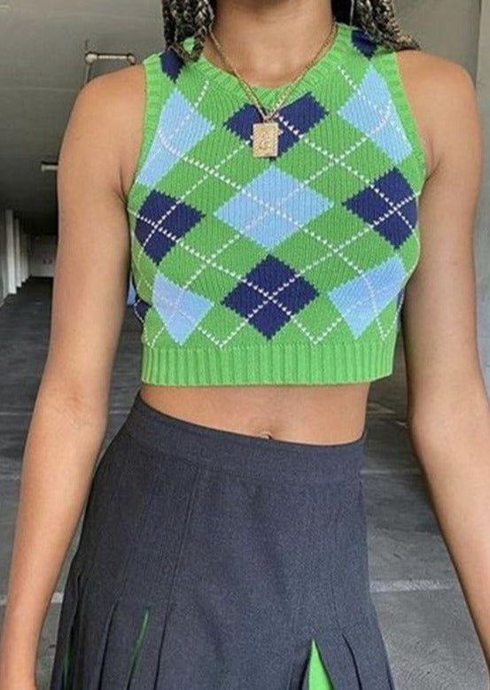 Cute Vintage Sweater Green