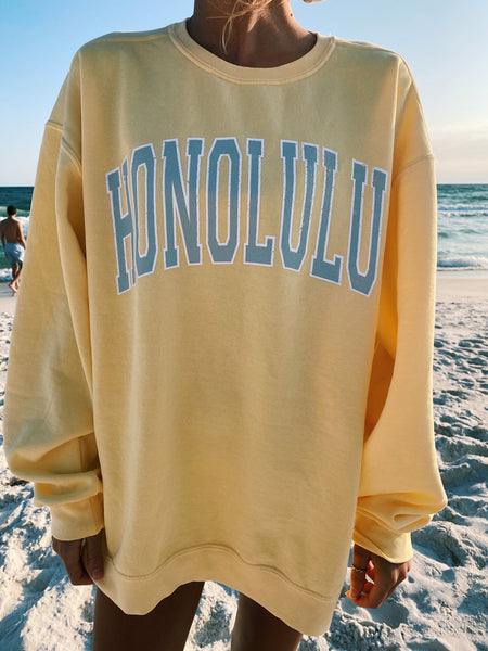 Honolulu Sweatshirt Yellow