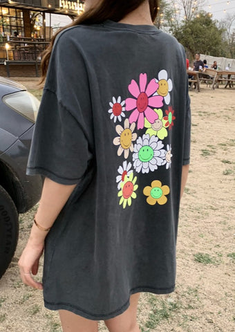 Cute Sunflower Oversized Graphic Tee