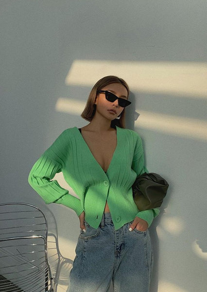Green Vneck Cardigan Outfits August Lemonade
