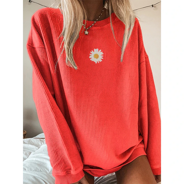 Casual Floral Printed Sweatshirt 7 Colors
