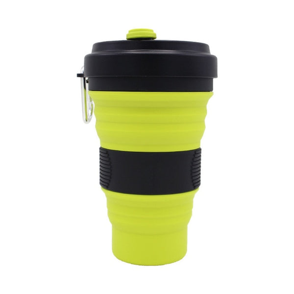 Eco Friendly Collapsible Silicon Coffee Cup