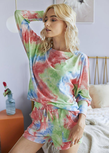 August Lemonade Cozy Livin' Rainbow Tie-Dye Set