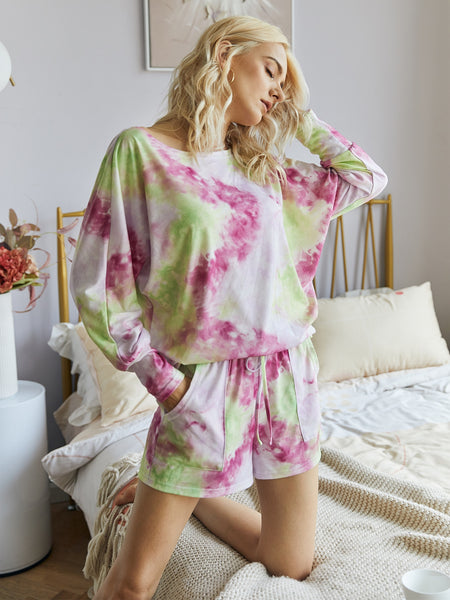 Cozy Livin' Rainbow Tie-Dye Set