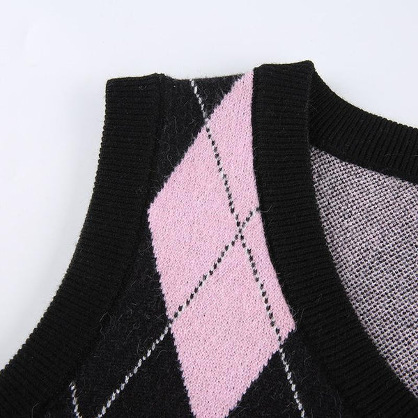 preppy-diamond-knitted-sweater-vest