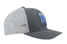 Load image into Gallery viewer, Gray Snapback Trucker Hat