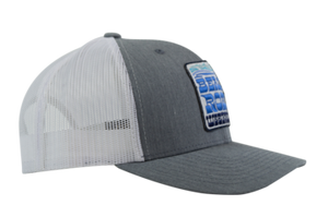 Gray Snapback Trucker Hat