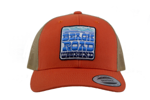 Orange Snapback Trucker Hat