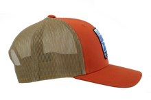Load image into Gallery viewer, Orange Snapback Trucker Hat