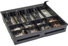 VAL-U LINE Standard Tray, 8 Coin / 5 Bill - Black