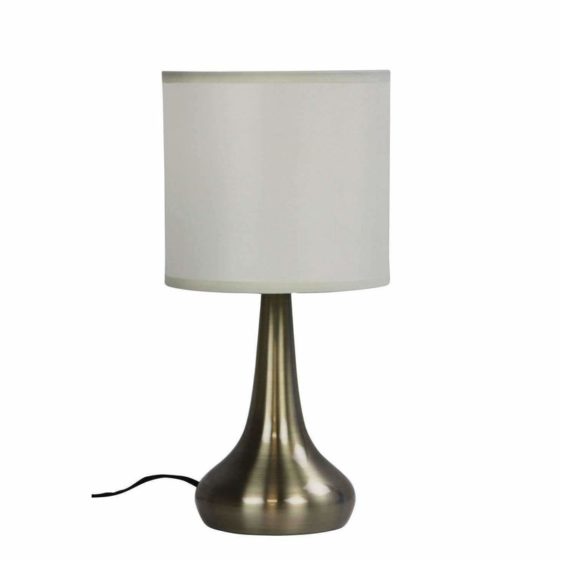Lola Touch Lamp in Brushed Chrome Silver