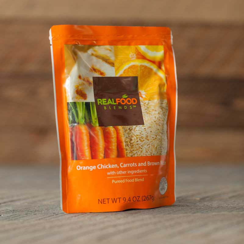 Orange Chicken, Carrots & Brown Rice (12-pack) Blenderized Meals