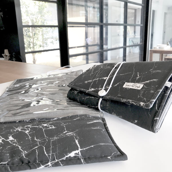 NappyWallet - Black Marble