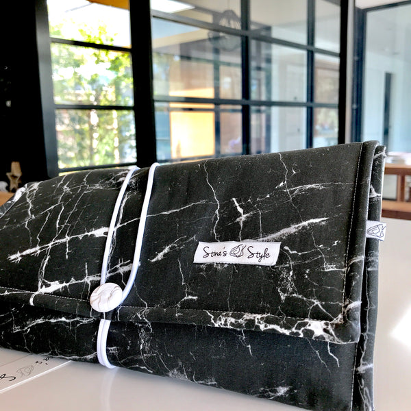 NappyWallet- Black Marble