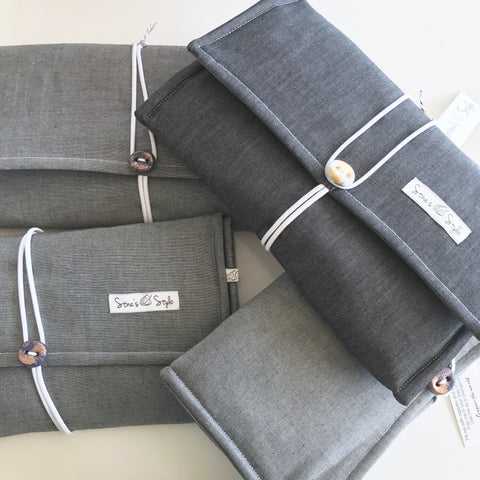 Nappy Wallets - Grey Denim