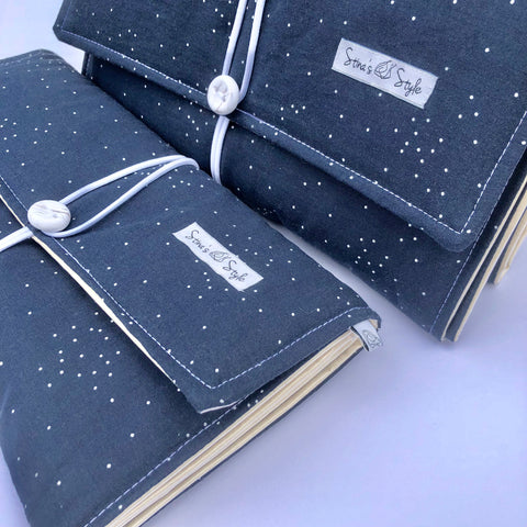 NappyWallet - Navy with White Dots