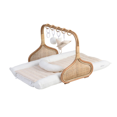 PRE ORDER for Christmas: Rattan Play Gym Bundle, early December- Milk/Cream