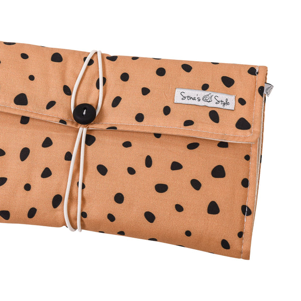 Nappy Wallets - Mustard Spotty.