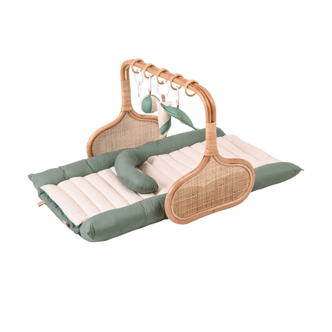 PRE ORDER for Christmas: Rattan Play Gym Bundle, early December- Sage/Cream