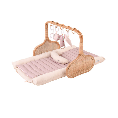 PRE ORDER for Christmas: Rattan Play Gym Bundle, early December- Vanilla/Blush