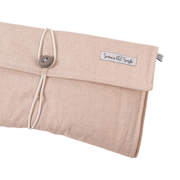 NappyWallet - Natural linen, various button
